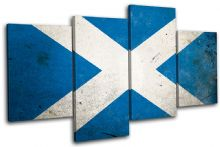 Abstract Scottish Maps Flags - 13-1170(00B)-MP04-LO